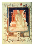 Fr 13091 F29V the Prophet Micah  from the Psalter of Jean  Duke of Berry  C1386 (Vellum)