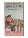 Advertisement for Mottet's Celebrated Virgin Olive Oil  C1900 (Colour Litho)
