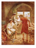 Christ Working with Joseph as a Carpenter