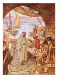 Jesus Commanding Matthew  the Publican  to Follow Him