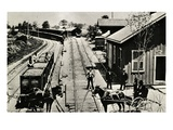 Depot and Tracks  Waymart  Pennsylvania  1895 (B/W Photo)