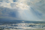 A Sunbeam over the Sea  1890 (Oil on Panel)