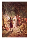 Judas Betraying Jesus with a Kiss  in the Garden of Gethsemane