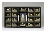 Cabinet  C1620 (Pearwood  Ebony  Alabaster and Pietre Dure Panels)