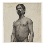 Study of a Negro Man C1891 (Charcoal and Pastel on Cream Laid Paper)