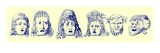 Roman Theatrical Masks  Illustration from 'Cassell's Illustrated Universal History'