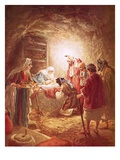 The Shepherds Finding the Infant Christ Lying in a Manger