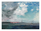 New Brighton from the Mersey  1907 (Oil on Panel)