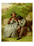 Lovers  1855 (Oil on Board)
