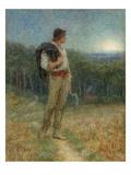 Harvest Moon  'Globed in Mellow Splendour'  1879
