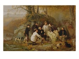 Claiming the Shot: after the Hunt in the Adirondacks  1865 (Oil on Canvas)