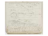Untitled (Atmospheric Study with Notations) 1825 (Pen and Brown Ink over Graphite Pencil on Paper)