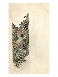 Unfinished &#39;Bird and Vine&#39; Wood Block Design for Wallpaper  1878 (Pencil and W/C on Paper)