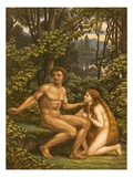 Adam and Eve  with Eve Showing Her Obedience