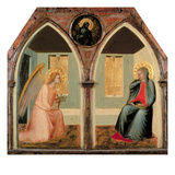 The St Giusto Polytych  Detail Showing the Annunciation (Tempera on Panel)