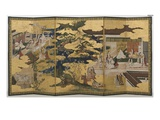 Spring in the Palace  Six-Fold Screen from 'The Tale of Genji'  C1650