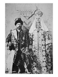 Tsar Nicholas Ii and Tsaritsa Alexandra in Full Coronation Regalia  May 1896 (B/W Photo)