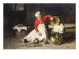Kitchen-Boy  1893 (Oil on Canvas)