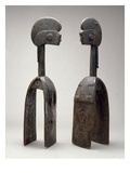 Male and Female Waja Masks  from Upper Benue River  Nigeria  1850-1950