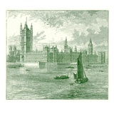 The Houses of Parliament and Westminster Abbey  Illustration from 'The World as it Is'