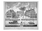 Harvard College  Cambridge  Massachusetts C1739 (Litho)