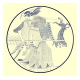 Maenad  Illustration from 'Greek Vase Paintings' by J E Harrison and D S Maccoll Published 1894