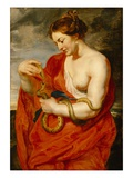 Hygeia  Goddess of Health  C1615 (Oil on Oak Panel)