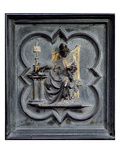 St Ambrose  Panel E of the North Doors of the Baptistery of San Giovanni  1403-24 (Bronze)