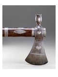 Pipe Tomahawk  Miami  1700/95 (Wrought Iron  Steel  Curly Maple and Engraved Silver)
