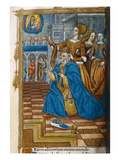 Livre D'Or  with a King Kneeling in Prayer C1500 (Vellum)