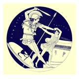 The Death of Troilos  Illustration from 'Greek Vase Paintings'