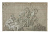 Rescue Group  1777/78 (Black Chalk Heightened with White on Paper)