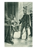 Admiral Sir Andrew Wood and James IV  Illustration from 'A History of the Scottish People'