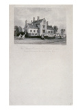 The School House on Dunsfold Green  Surrey  1850 (Steel Line Engraving)