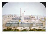 Colt's Patent Firearms Factory at Hartford  Conneticut  1862 (Colour Litho)