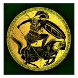 Warrior and Centaur  Illustration from 'Greek Vase Paintings'