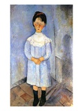 Girl in Blue  1918 (Oil on Canvas)