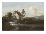 Landscape with a Watermill  C1680 (Oil on Canvas)