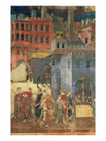 Good Government in the City 1338-40 (Detail of 57868) (Fresco)