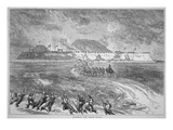 British and French Troops Capture the Takoo (Taku) Forts During the Second Opium War (Litho)