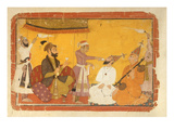 ]7110/359 Gosain Narayan Takes Poison in the Presence of Emperor Jahangir  Nurpur  Pahari School