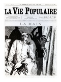The Hand  Front Cover of 'La Vie Populaire'  1885 (Litho)
