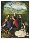 The Virgin of the Rose Garden  1475-80 (Oil on Panel)