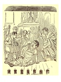 The End of Julius Caesar  Illustration from 'The Comic History of Rome' by Gilbert Abbott a Beckett