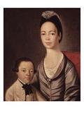 Mrs Aaron Lopez and Her Son  Joshua  1772/73 (Oil on Canvas)