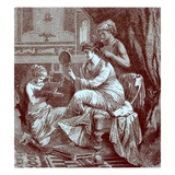Roman Lady at Her Toilet  Illustration from 'The Illustrated History of the World' Published C1880