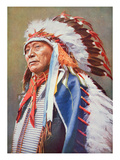 Chief Hollow Horn Bear (1850-1913) (Colour Litho)