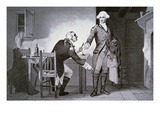 American Traitor: General Benedict Arnold Instructing Andre to Hide Papers in His Boot Top (Litho)