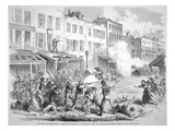 Draft Riots in New York  'Conflict Between the Military and the Rioters in First-Avenue'  1863