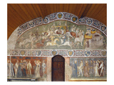 Scenes of a Tournament and Courtly Life from the 'Casa D'Estate' (Summer House)  1388-1400 (Fresco)